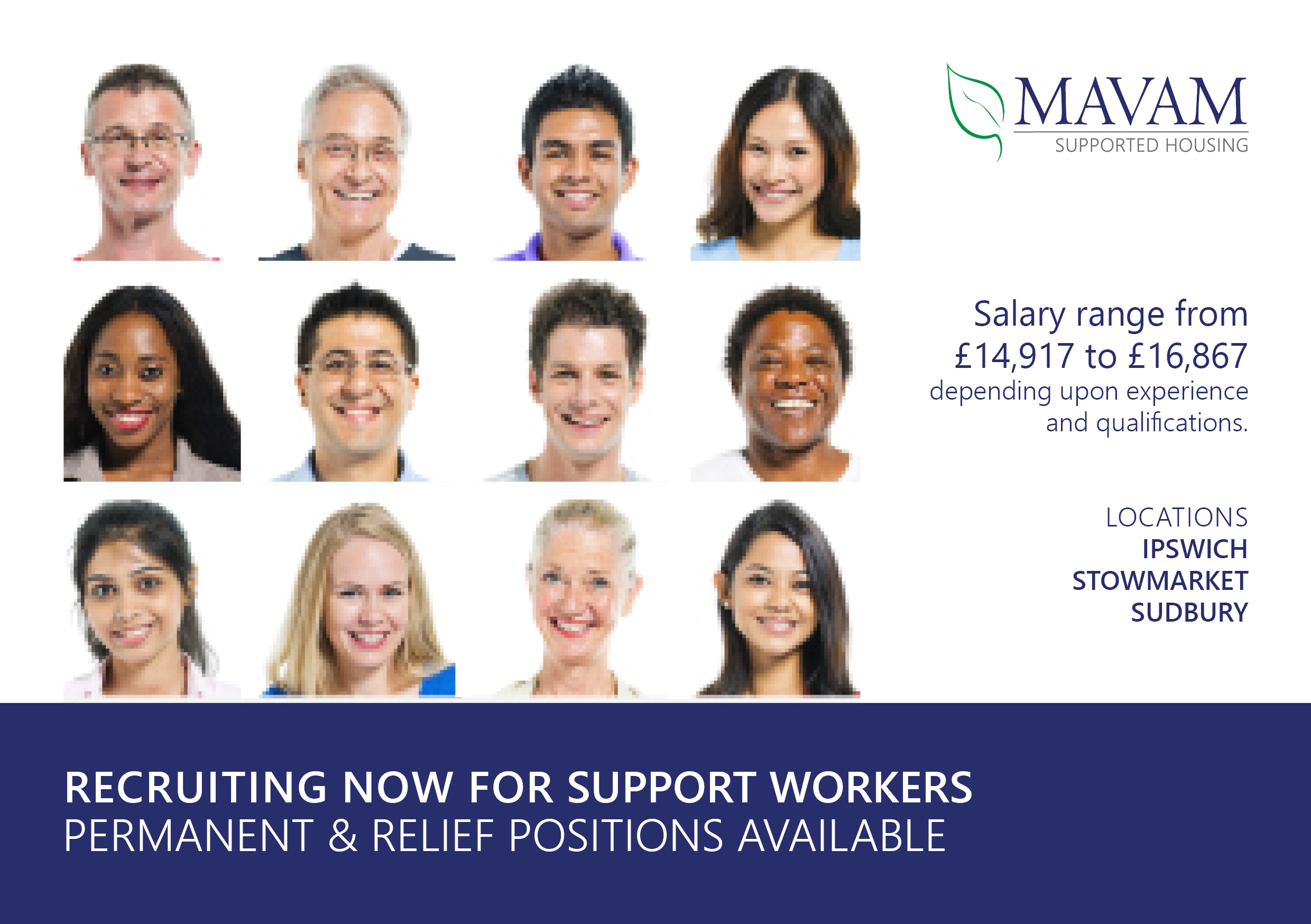 Mavam template for SH job advert